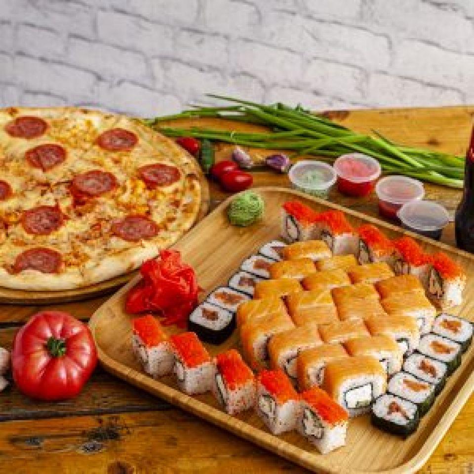 Суши и пицца на доставку по сниженным ценам
